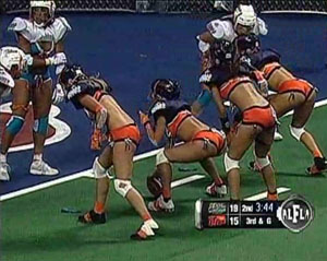 Lingerie Football League. Chicago Bliss vs Miami Caliente