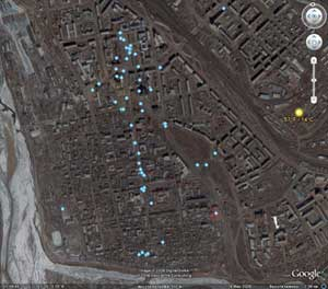 Центр Улан-Удэ в Google Maps