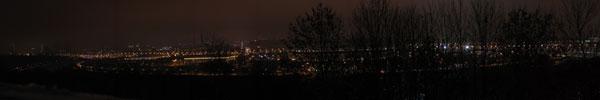 Панорама огней Москвы с Воробьевых гор