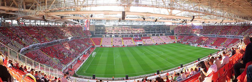 Панорама стадиона Спартака